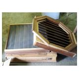 "Awsco Octagonal Red Wood Ventilating Louvers Qty. 3 23.75"" x 25"""