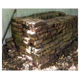 "Reclaimed Purington Bricks From The Chilicothe Train Station Walking Platform 4"" x 3"" x 8.5"" QTY 250"