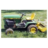 "John Deere Lawn Tractor Model #C317J Hours Showing 776.5 Needs Repair, Includes 36"" Garden Tiller"