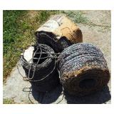 Red Brand High Tinsel Galvanized Barbed Wire 2 Full Spools And 1 Partial