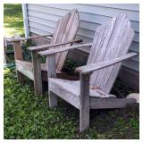 "Matching Wood Adirondack Chairs 42"" x 32"" x 32"""