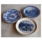Political Porcelain And Ceramic Plate Collection, Qty 20 Pieces
