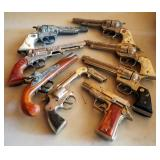 Vintage Cap Gun Collection, Including Stallion 38, Texan Junior, Dyna-Mite, Trooper, Hubley, And Mor