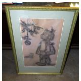"Framed, Matted Under Glass Goebel M.J. Hummel ""Sieglind"