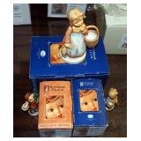 "Goebel M.J. Hummel Club Exclusive Edition ""Girl With Nosegay (Candlestick)"", ""Girl With Fir Tree (Ca"
