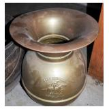 The Pony Express Brass Spittoon And Cast Iron Pot