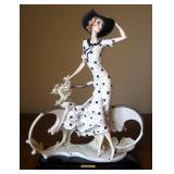 "Giuseppe Armani ""Spring"" (Girl With Bicycle) Cold Cast Porcelain Figurine # 0539-C, 15"" x 12"", In Bo"
