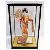 "Geisha Girl Figurine, 17"" Tall, On Base, In Display Box"