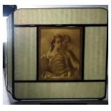 Vintage Lithophane Sconce Covers Qty 2 And Lithophane Panels With Chains Qty 2, Images Appear When B