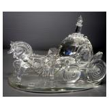 "Shannon Crystal Handmade Crystal Horse And Carriage, 4"" High"