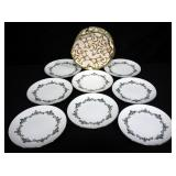 Noritake Monterey Dish Set, Includes Saucers, Dessert, Dinner & Salad Plates, Teacups, Serving Bowls