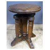 Antique Piano Stool, Ajustable Height Seat