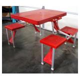 Collapsible Picnic Table, Folds Down Into Case, Case Acts As Table Top