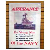 "U.S. Navy Recruiting Poster, 1974 Reprint, 25"" Wide x 36.5"" High"