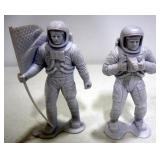 "Marx Astronaut Figurine Collection, Qty 6, 1970s, Approx 6"" Tall"