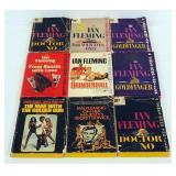 Collection Of Ian Flemming James Bond Paperbacks, Qty 9