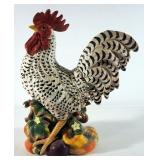 "Fitz And Floyd Ceramic Rooster, 15.5"" High"
