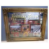 Two Kentucky Tavern Triple Crown Commemorative Bar Mirrors, One For Secretariat