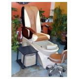 Nice Spa Pedicure Station Including Electric Massage Chair With Foot Spa & Remote, Model #J51W03DL A
