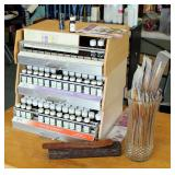 Aura Cacia 100% Pure Essential Oils & Blends, Includes Display Cabinet With Pull Out Drawers, Approx