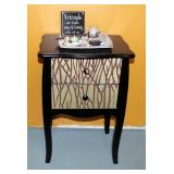 "2 Drawer Accent Table 26.5"" x 17.5"" x 13.5"" With Decorative Tabletop Zen/Rock Garden, Votives, And F"