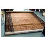 Floral And Geometric Design Area Rug, 8 Ft x 11 Ft