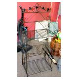 "Folding Metal Bakers Rack With 3 Shelves, 49"" x 21"" x 14"""