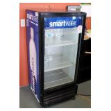 "Glass Front Beverage Cooler With 3 Shelves, 54.5"" x 25"" x 24.25"", Plugged In And Working"