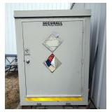 SecureAll Insulated Chemical Storage Shed With Blast Relief Plate, 7