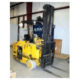Drexel Battery Powered Swing Mast Forklift, Model SLT30, Hours Showing 27489, Includes Ferro Five Ba