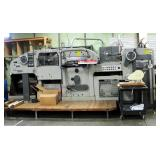 1972 Bobst SA Autoplatine SP900E Die Cutter Machine, Includes Plates, Deck, Metal Trash Cart And Acc