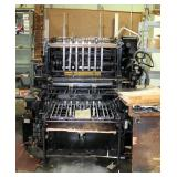 """Original Heidelberg Cylinder Printing Press, 21"""" x 28"""" Max Sheet Size, Includes Wood Furniture And D"""