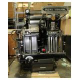 """Original Heidelberg Windmill Printing Press, 10"""" x 15"""" Max Sheet Size, Approx. Measurements 58"""" x 56"""