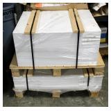 "White Platinum Gloss Paper Stock 23"" x 29"", 100 Pound, And White Platinum Silk Cover, 23"" x 35"", 100"