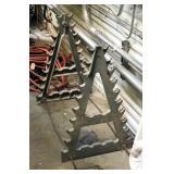 "Metal A-Frame Pipe Rack, 32"" x 30"" x 21"""