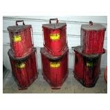 Eagle Oily Waste Cans, 6 Gallons, Qty 2 And 14 Gallons, Qty 3 And Protectoseal 6 Gallon Oily Waste C