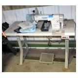 Yamata Industrial Sewing Machine, Model GC8600, Includes Heavy Duty Table With Metal Base And Instru