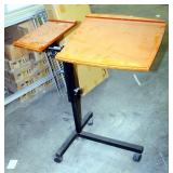 """Adjustable Rolling Lecture With Metal Base, 40"""" x 35"""" x 21"""""""