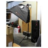 """Photo Flex Platinum Series, Silver Dome Soft Box, 32"""" x 46"""", On Adjustable Stand, Includes Soft Side"""