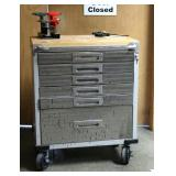 Seville Classics 6-Drawer Rolling Tool Cabinet With Contents, Including Combination Wrenches, Allen