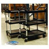 "Rubbermaid Rolling Carts, 38"" x 33.5"" x 18.5"", Qty 2"