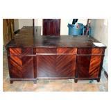 "Solid Wood, L-Shaped, 10 Drawer Desk, 30"" x 72"" x 89"""