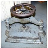 "Antique Cast Iron Press, 15"" x 12"" x 19"""