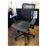Adjustable Rolling Office Chair With Mesh Seat And Back