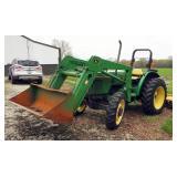 1996 John Deere 5200 Diesel Utility Tractor With 520 5