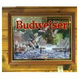 """Framed Budweiser Mirrored Back Hunting Prints, Qty 2, Deer And Pheasant, 30"""" x 34"""", Waterfowl, 27.5"""""""
