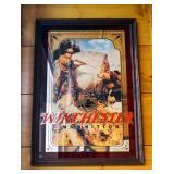 "Framed Winchester Ammunition Mirrored Back Wall Print, 32.5"" x 22.5"""