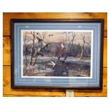 Framed Matted Under Glass, Harry C. Adamson Duck Print, Signed And Numbered By Artist, 495/850, 26.2