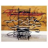 """Electric Neon Budweiser At The Lake Sign, 25"""" x 30"""""""