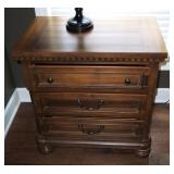 """Solid Wood, Cedar Lined 3-Drawer Side Tables, 29.5"""" x 19"""" x 29"""", Qty 2"""